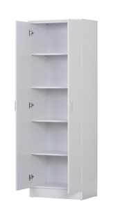 600mm Pantry Cupboard. Narrow 2 doors. white